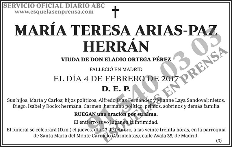María Teresa Arias-Paz Herrán